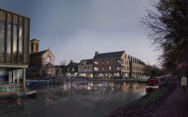 Oxford Mail: An artist's impression of the Jericho boatyard development