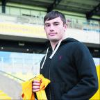 Oxford Mail: Aidan Hawtin shows his pride after signing his first professional contract with Oxford United