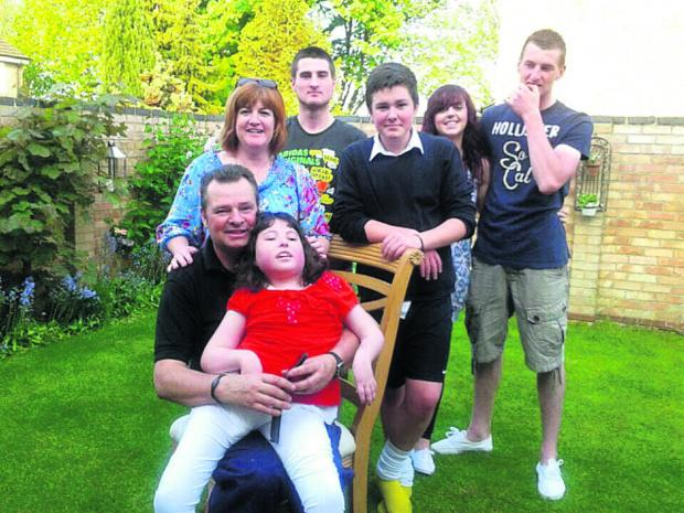 Back, left to right, Theresa Dyer, Ben, Luke, Nikki Abbott (Daniel's partner) and Daniel. Front: Danny and Victoria