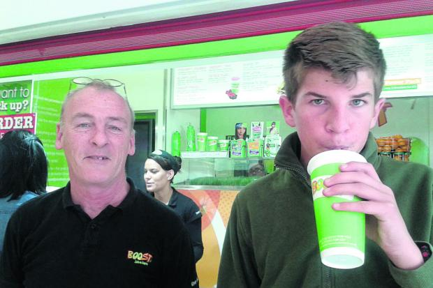 Teen Taste at Boost juice bar in Oxford