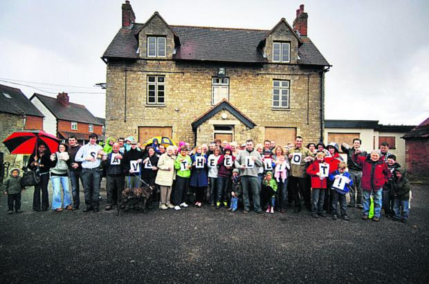 Oxford Mail: Villagers protesting about the pub closure in 2010