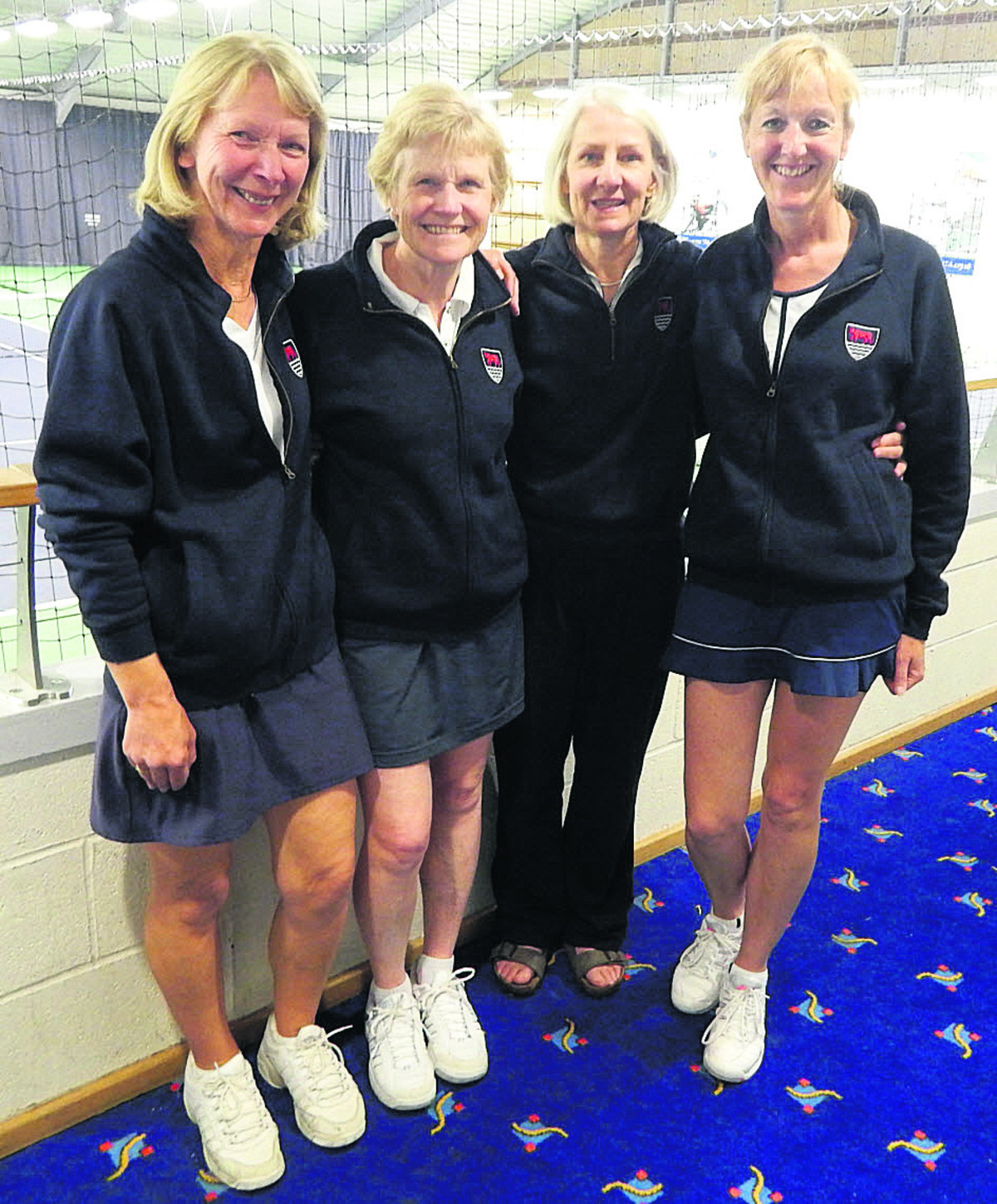 Oxfordshire's victorious women. From left: Ruth Ballantyne, Liz Gilkes, Sarah Widdowson, Ana Cogg