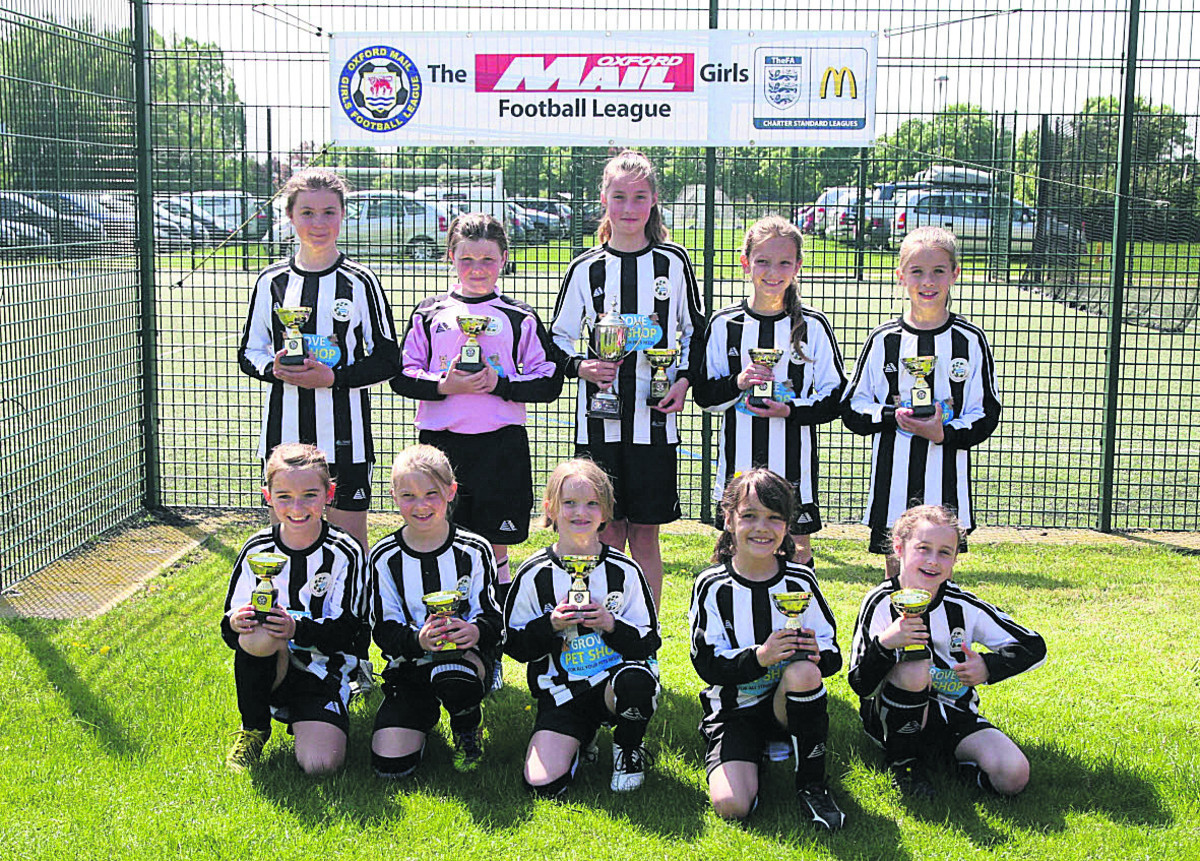 Grove Challengers won the Under 10 cup  Pictures: Steve Wheeler
