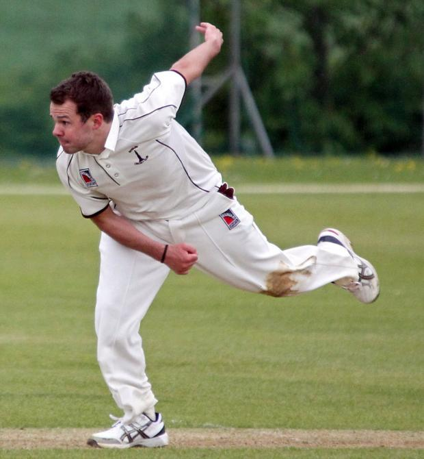 Oxford Mail: Ollie Wright sent Tiddington packing with figures of 5-37 for Banbury 2nd