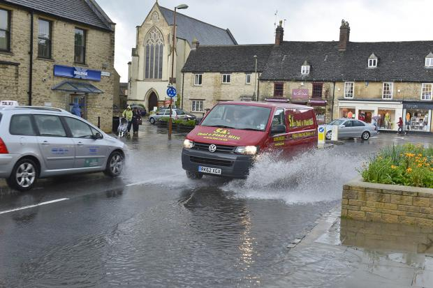 Oxford Mail: The scene in Witney
