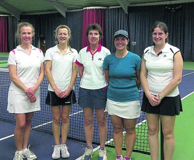 Oxfordshire over 40s (from left): Helen Bush, Lisa Morgan, Liz Bamber, Juliane Spiers, Suzi Willis