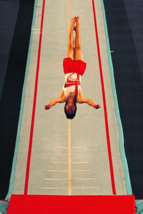 Ben Goodall's acrobatic routine won gold in Coventry