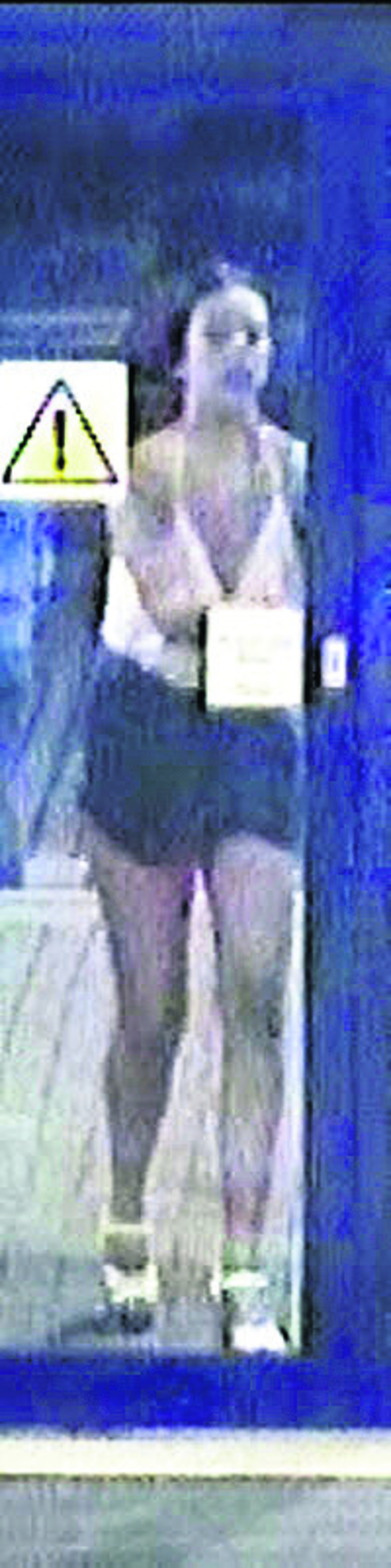 CCTV image of the woman British Transport Police want to talk to
