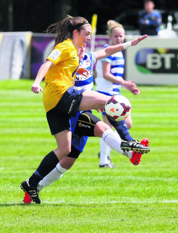 Oxford Mail: Lauren Allison scored Oxford United Ladies' equaliser in the 2-2 draw against Reading yesterday