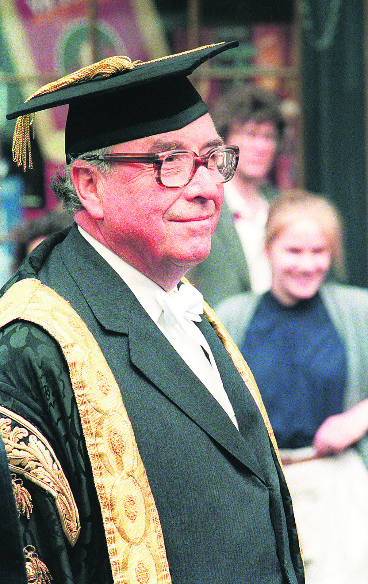 Roy Jenkins at the Encaenia procession at the Sheldonian, Oxford, in June, 1987