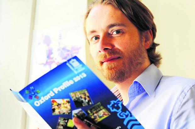 Oxford City Council's social research officer Mark Fransham                                 Picture:  OX67206 Jon Lewis