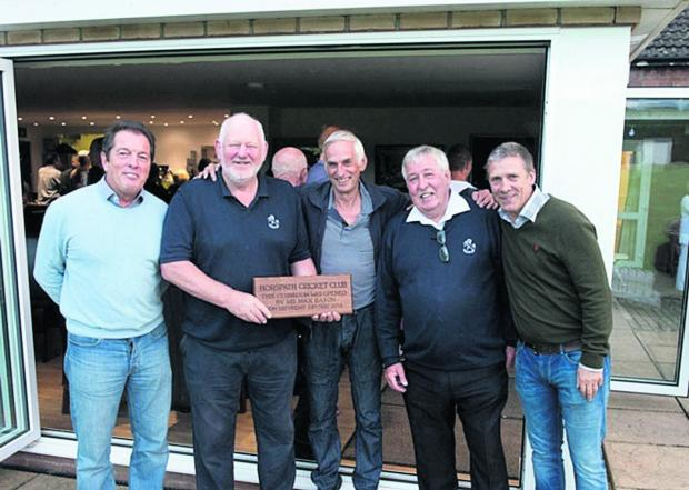 Oxford Mail: Horspath members at the opening of their new clubhouse. From left: John Hilland, Max Eason, Clive Ricks, Peter Walker, Pete Wright