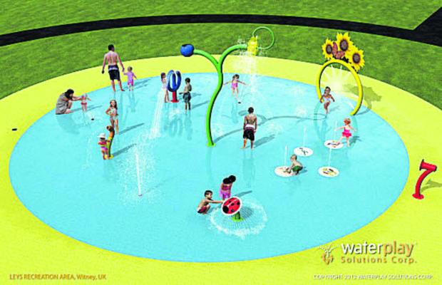 Oxford Mail: Designs for the splash pool