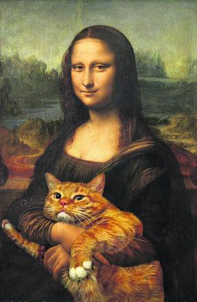 An exhibition of Russian artist Svetlana Petrova's unusual feline take on famous paintings opens this weekend. Picture: www.fatcatart.gallery