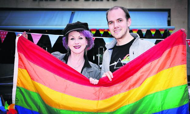 Festival director Mazz Image and Oxford Pride chairman Dave Legg