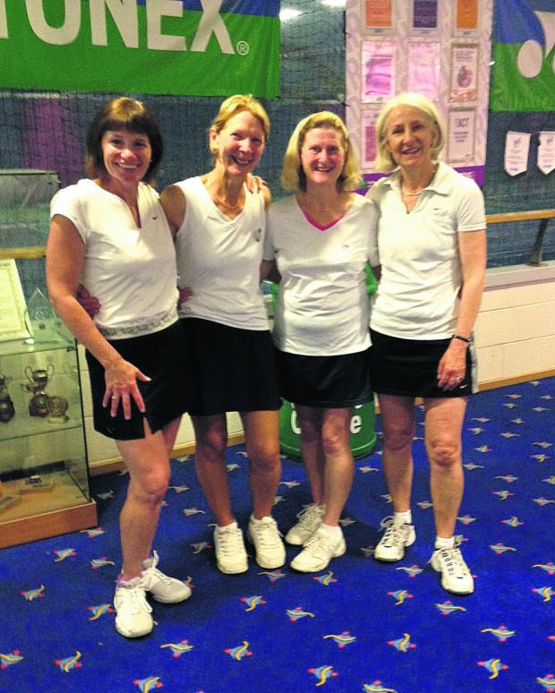 Oxford Mail: Oxfordshire's Over 50s women. From left: Tracey Hodson, Ruth Ballantyne, Mary Joyner and Sarah Widdowson