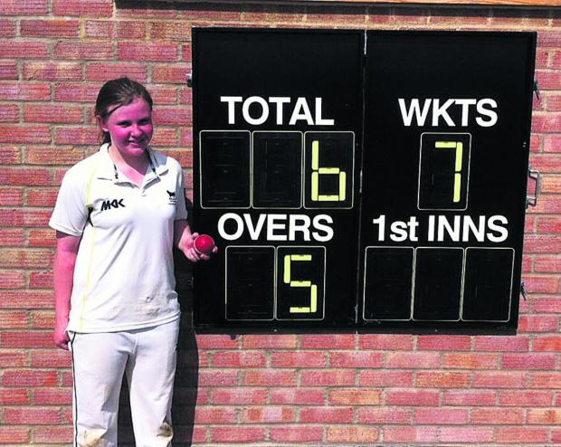 The scoreboard says it all as Sophie Mitchelmore takes the plaudits