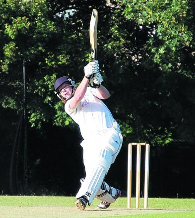 Dean Conradie blasts one of the sixes that clinched victory for Horspath