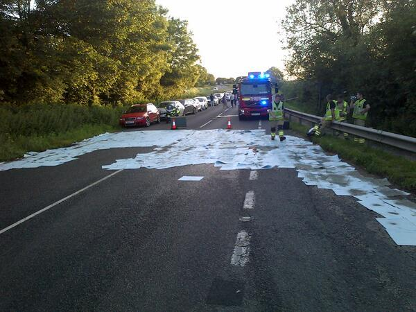 SPILL: Picture of the scene tweeted by @tvp_oxford