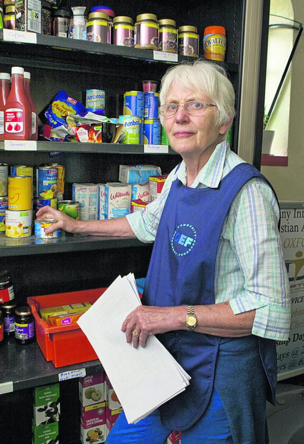 Oxford Mail: Jane Benyon at the Community Emergency Foodbank in Cowley