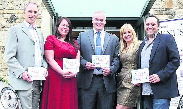 Oxford Mail: Launching the awards, from left, Paul Mabbutt, of Jennings; Anne Blacker, of NatWest; Graham Ballantyne, of NatWest, Tara Howard and David Frankel