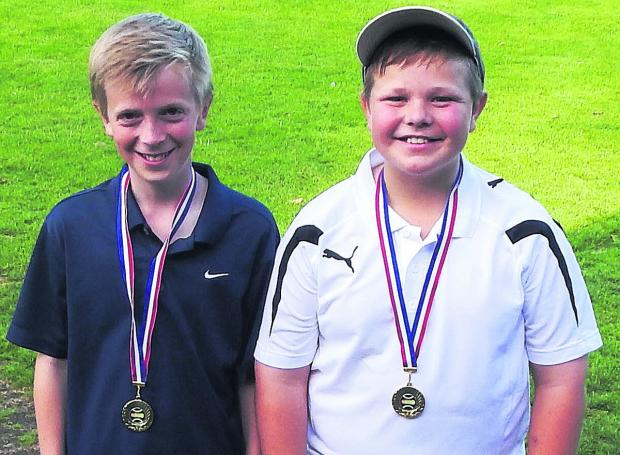 Will Stanton (left) and Jimmy Strainge pictured after their success in Faringdon.