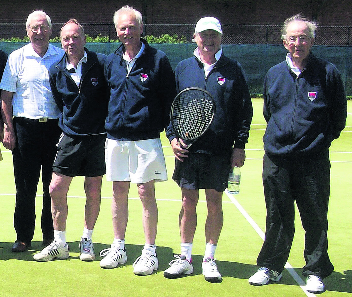Pictured after their success against Wiltshire are (from left): Mike Morgan, Ian Jelfs, Roger Selby (capt), Tony Gale and Jon Dilworth