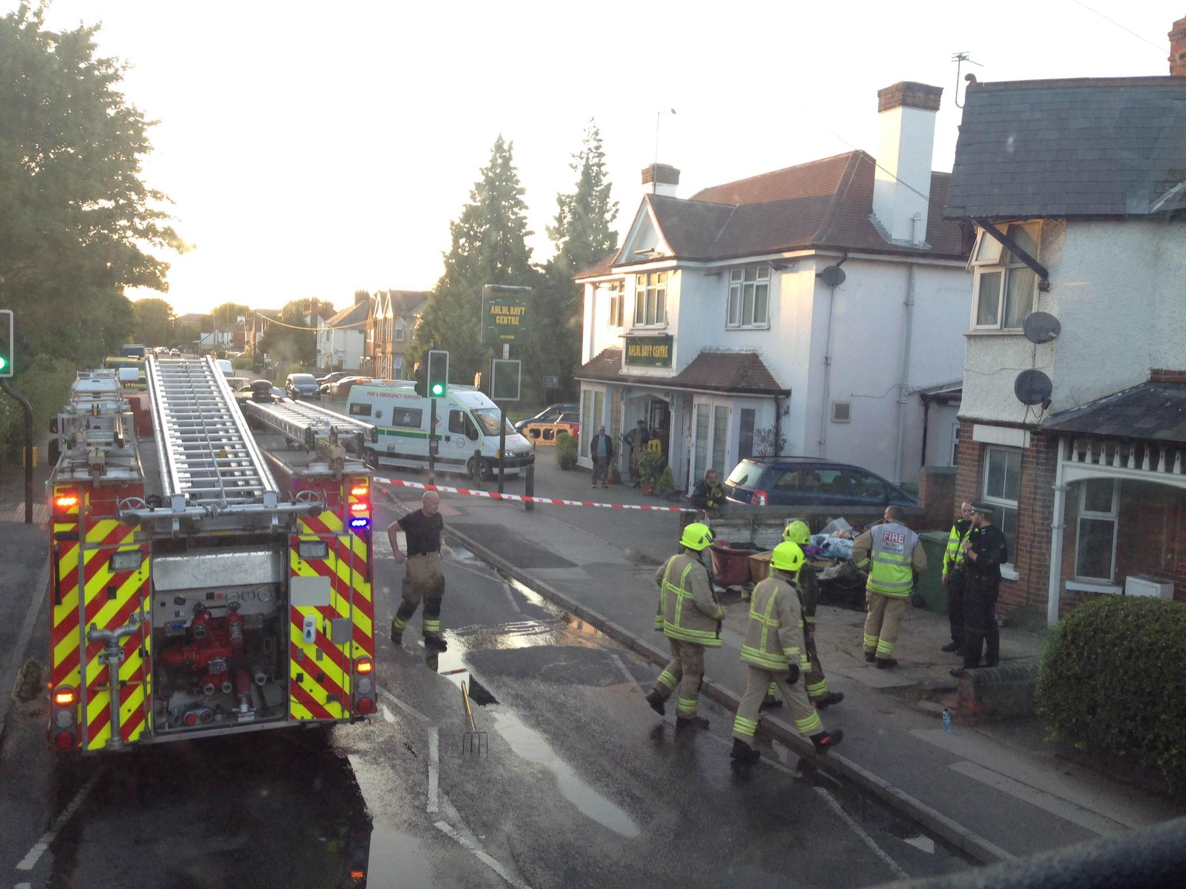 Fire in bedroom shuts Cowley Road (Pic: Brynsley Ramdeen)