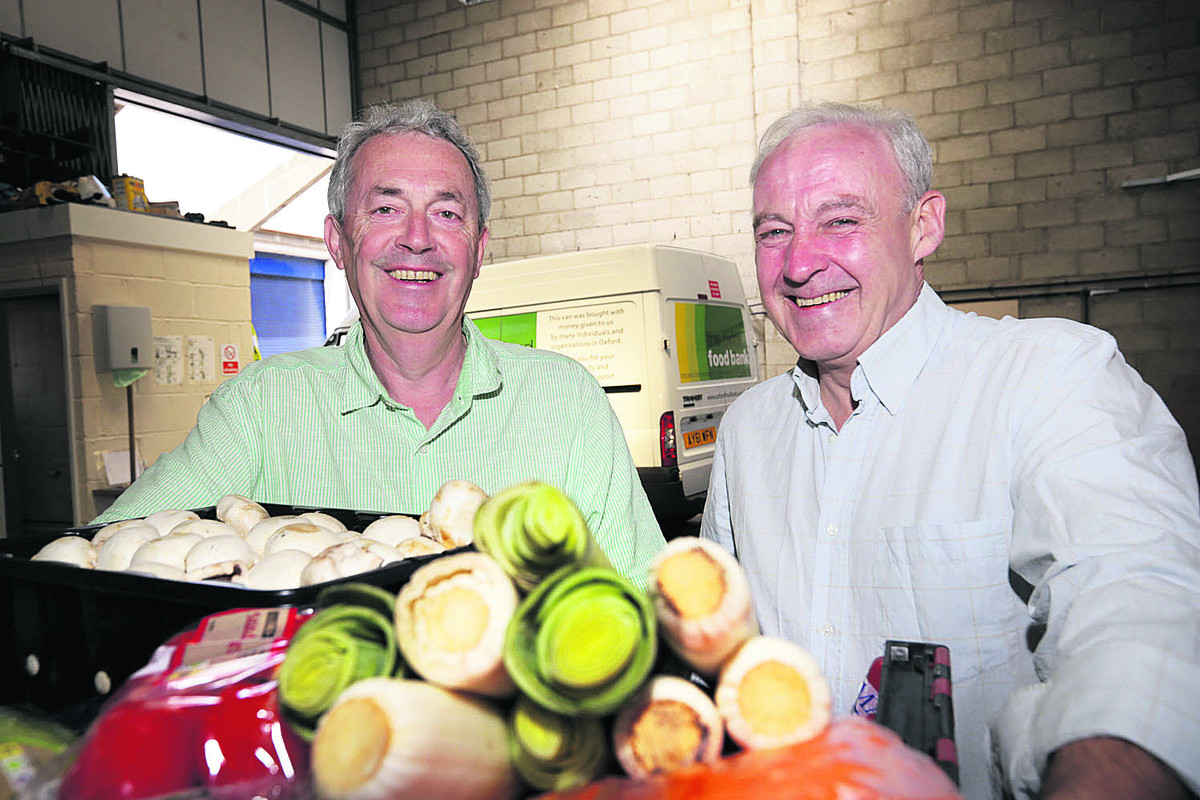 Co-directors of Oxford Food Bank, Robin Aitken, left, and David Cairns, who have received MBEs. Picture: OX67818Damian Halliwell