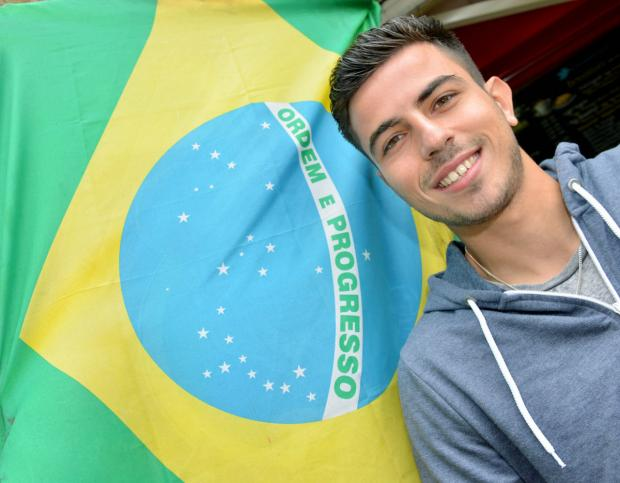 Oxford Mail: Felipe Barcelos, now back in Oxford after a spell in Italy, flies the Brazilian flag