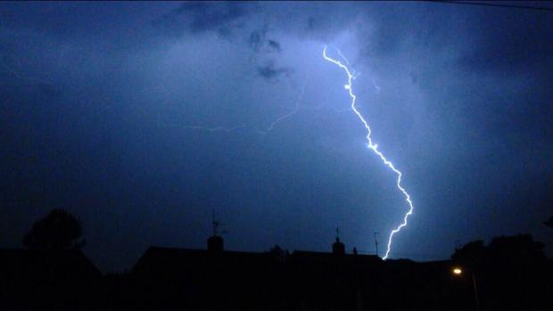 Lightning bolts set fire to Oxfordshire homes