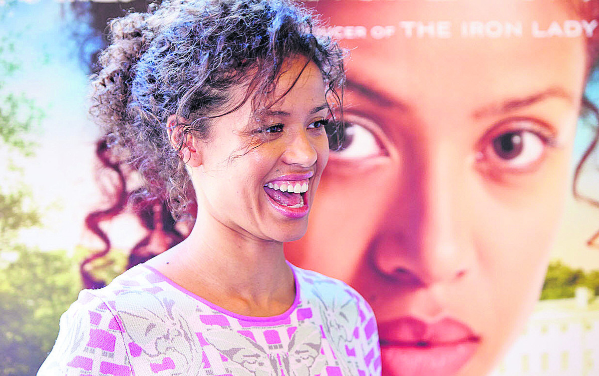 Gugu Mbatha-Raw at Cineworld in Witney for a special screening of her new film Belle on Saturday, which raised money for the Variety Club