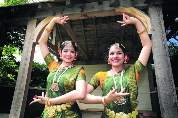 Oxford Mail: Dancers Kavitha Pillai, aged 15, right, and Sanjana Narayan, 14