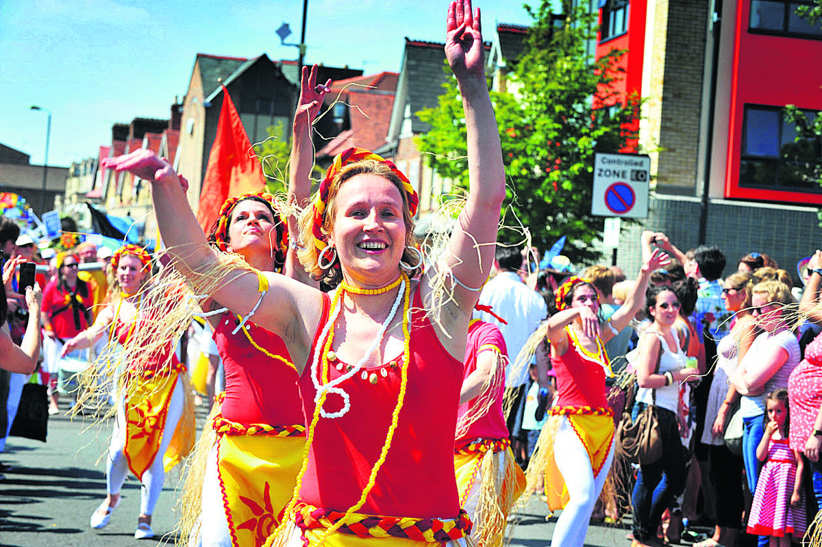 Flashback: Sol Samba dancers and drummers at last year's Cowley Road Carnival