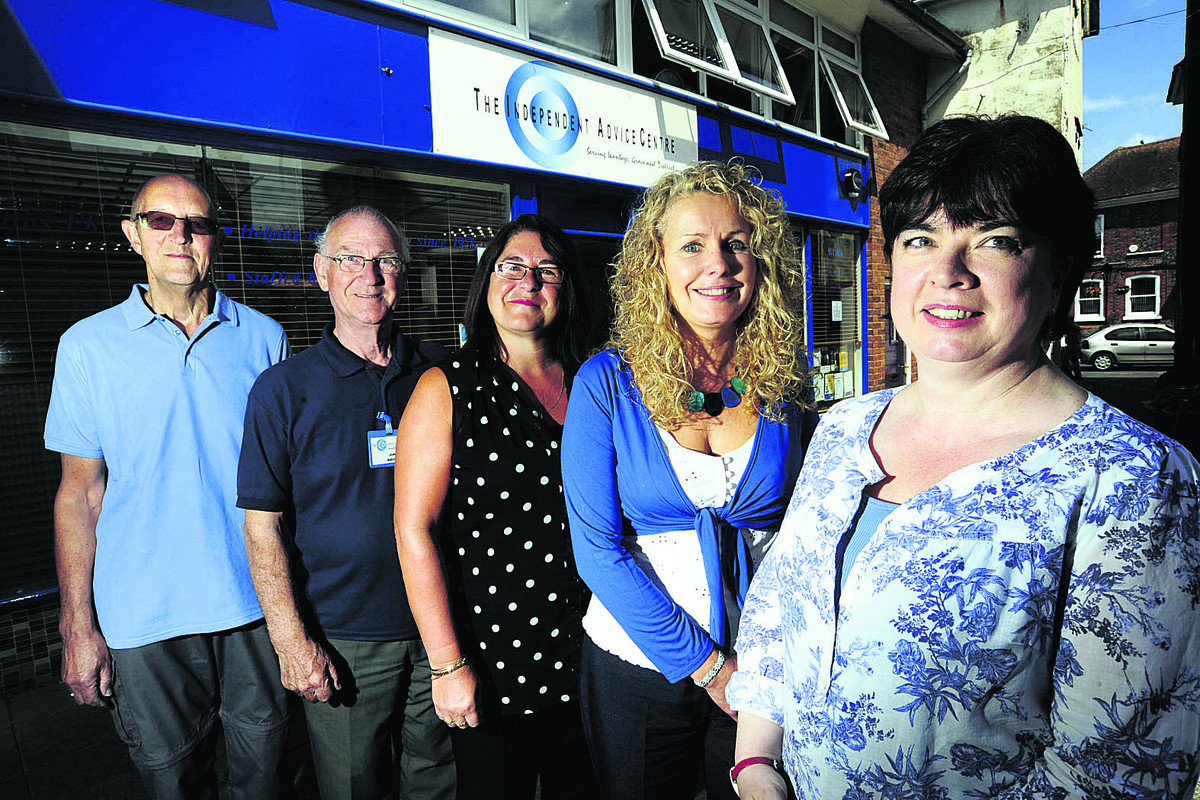From left, Wantage Advice Centre staff Geoff Hamer, John Caldicott, Wendy Watson, Pam Evans and Lisa Benge. Picture: OX67809 David Fleming