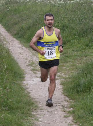 Alejandro Heuck runs leg seven of the Ridgeway Relay for eventual winners Headington Road Runners.     Picture: Barry Cornelius