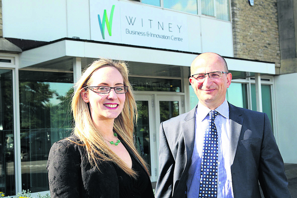DEAL: Stephanie Henwood, manager of Witney Business and Innovation Centre, and Roger File, property director at Blenheim Palace