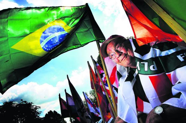 Ivor Saunders, a retired chef, loves flags