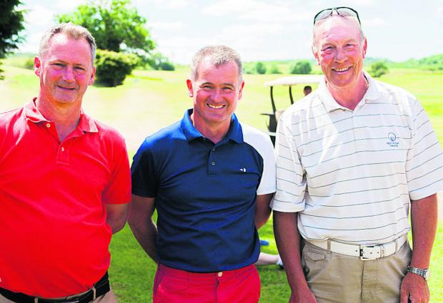 WINNERS: (from left) Pete Aslett, John Aslett and Paul Howard     Picture: Greg Blatchford Order no: OX67727