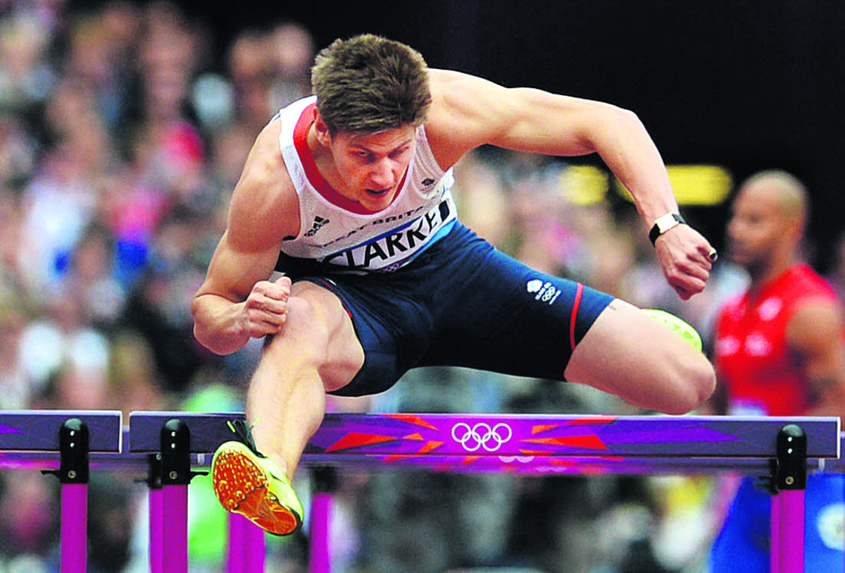 Lawrence Clarke goes in the 110m hurdles today