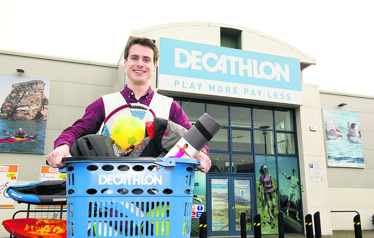 Michael McHale, store manager of Decathlon, Oxford, which opened last month