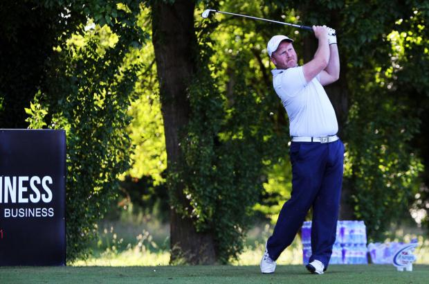 Oxford Mail: Frilford Heath's Tom Fleming on the tee in the Buildbase Open at his home club