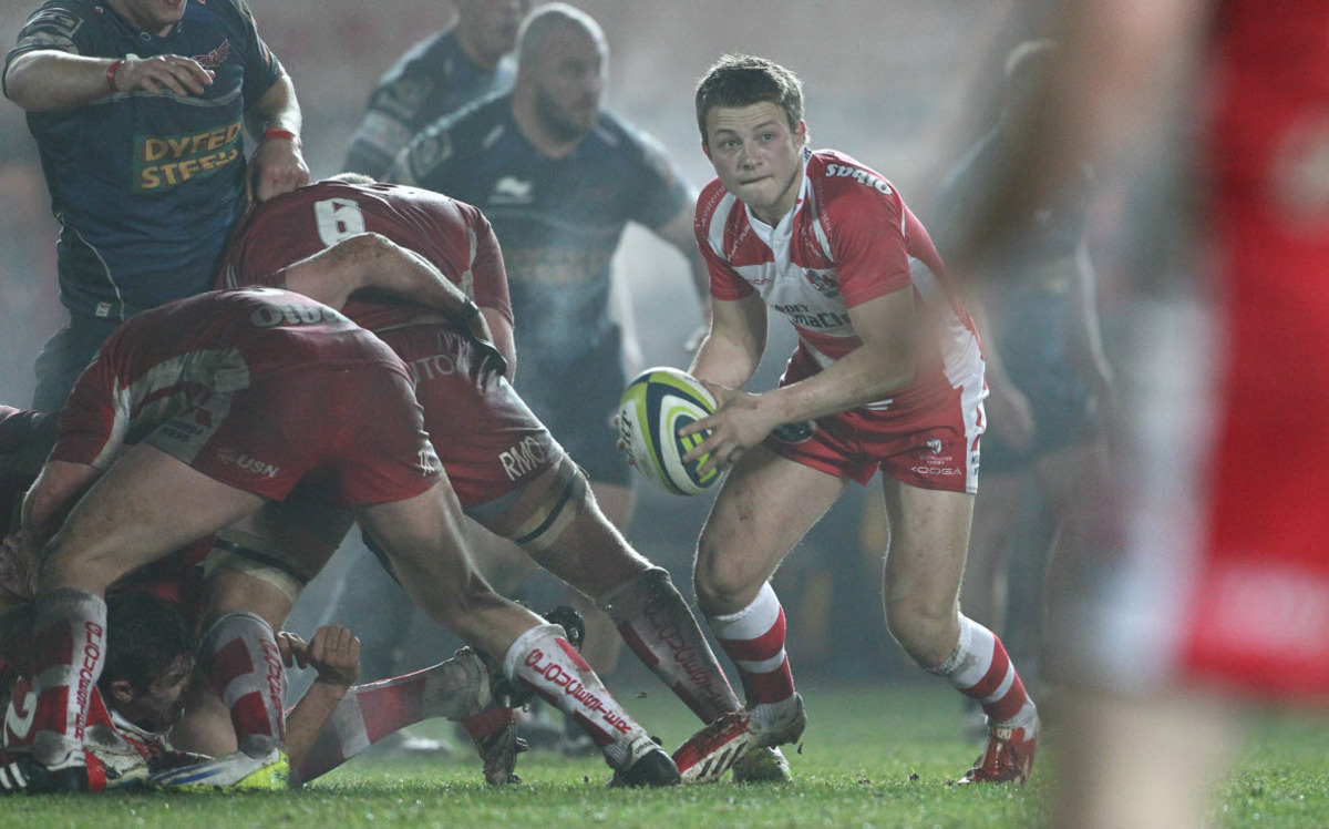 Reece Boughton in LV= Cup action for Gloucester against Llanelli Scarlets    	              Picture: Martin Bennett/ Gloucester Rugby