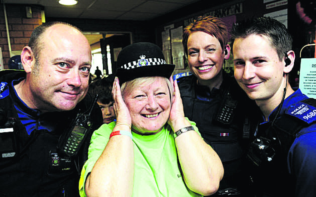 PCSO Nigel Pearce, Sue Holden, PCSO Rachel Cooper and