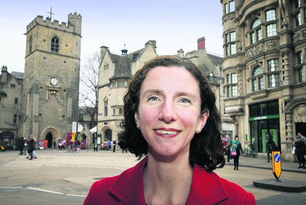Anneliese Dodds, pictured at Carfax in Oxford, which bucked the UKIP trend in the recent European elections