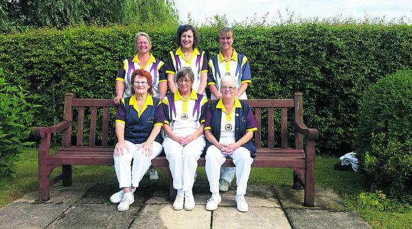 Oxford Mail: City & County's successful teams. Back row (from left): Gail Gilkes, Donna Knight, Katherine Hawes. Front: Myra Lewis, Sue Mayo, Jeanette Berry.