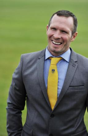 Michael Appleton is happy to be starting his new job as head coach at Oxford United's training ground at Roman Way yesterday