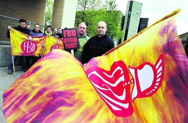 Firefighters from Rewley Road on strike in May