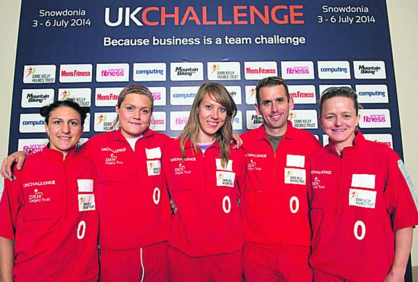 Mara Yamauchi (far right) with the Dame Kelly Holmes Trust team which took part in the UK Challenge