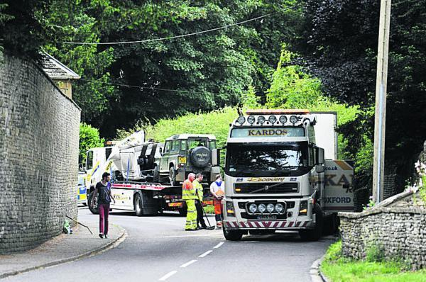 Oxford Mail: The scene of the accident